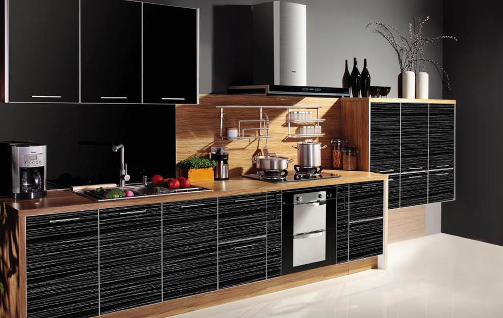 Modern No Handle Furniture Sideboard High Gloss Kitchen Cabinet Cupboard Door