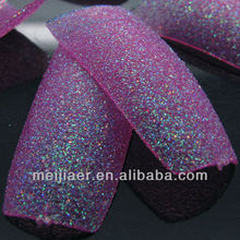 top quality nail supplier glitter nail tips