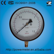 6inch 160mm utility pressure gauge lower entry steel case 1.5 Mpa could be customized
