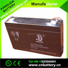kanglida battery 6v7ah maintenance free low self-dischargeable battery for children's toy car