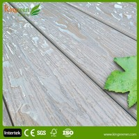 Hot sale crack-resistant outdoor co-extrusion wpc decking for wpc outdoor decking better than bamboo plastic composite decking