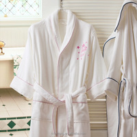 hotel terry cloth bathrobe/embroidered luxury hotel bathrobe/w hotel bathrobe
