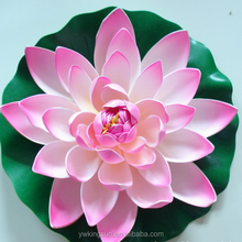 Natutal Eco-friendly Artificial EVA Cloth Lotus Flowers for Birthday Gifts Wedding Decoration Home Decoration