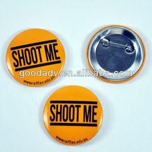 2012 fashionable design tinplate badge button Customised tinplate badge