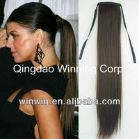 fashion human hair drawstring ponytail extension with clip for black women