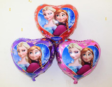 Hot sell balloon wholesale heart-shaped 18 inches of frozen Cartoon aluminium film balloons,inflatable balloon