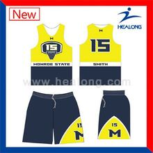 Healong Manufacturers Branded 100 Polyester Basketball Wear Knitted Fabric