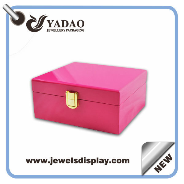 Varnishing Processed Wooden Treasure Chests With Gold Lock