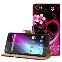 Various Animal Flower Printing Premium PU Leather Wallet Case with Card Slots and Cash Compartment Case For Wiko Lenny