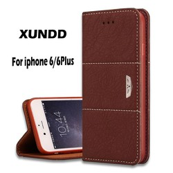 Xundd Genuine Leather Wallet Flip Case For iPhone 6,For iPhone 6 Wallet Flip Case