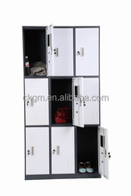 Popular cheap metal furniture wardrobe cabinet nine door/storage lockers
