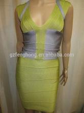 vendaje popular navidad disfraces sexy vestido de noche vestido de color verde esmeralda