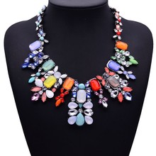 Ms costly gem collarbone chain Foreign trade exaggerated necklaces