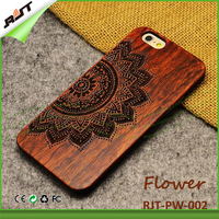 Latest new! OEM Custom branded carve mask design wood+PC phone case for iPhone 5