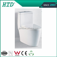 White glaze ceramic toilet siphon toilet soft close seat cover HTD-MA-3012