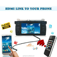 Android HDMI Wireless phone link mirabox radio Car Dvd Players Gps Navigation Ipod Stereo Radio uUsb BT for BMW E46