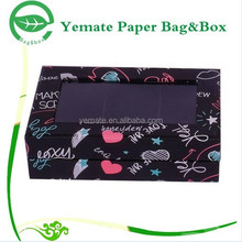 popular in market glossy laminated custom paper gift retail box packaging with clear PVC window to display products