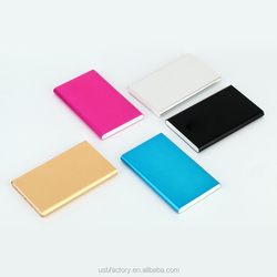 Rechargeable ultra thin battery mobile recharge for gift