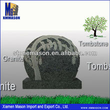 Import exquisite carved headstone with trees