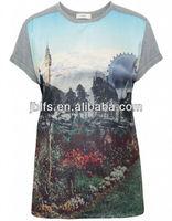 OEM wholesale ladys chiffon blouses/fashion design muslim lady blouse