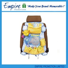 Yellow colorful custom design wholesale travel lovely folding kid car organizer