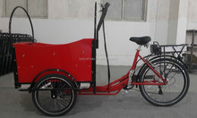 CE bakfiets pedal assisted family shopping electric cargo tricycle bike manufacturer