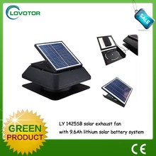 Solar exhaust fan rechargeable solar fan with solar battery system
