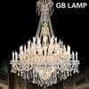 Big crystal pendant lamp Decorative crystal white chandelier LED