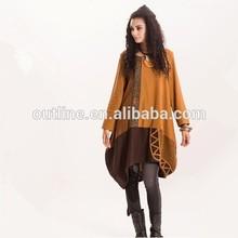 Aceptar al por menor Simple estilo europeo de retazos de suéteres de invierno