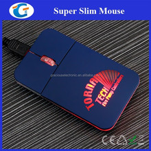 Retractable usb mini pocket mouse with laser engraved led logo