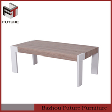 new design mdf high gloss with paper coffee table