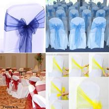 Wedding Banquet Gold Organza Chair Sashes