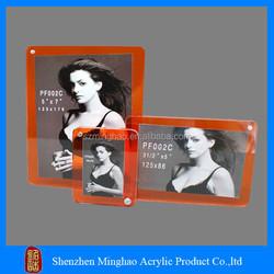 New design rectangle shape acrylic photo frame/square acrylic photo frame