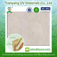 UV coating Rigid sound Insulation fibre cement Wall Art Decor board
