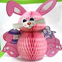 Wholesales Rabbit Paper Honeycomb For Easter Decoration