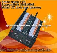 Bulk sms sending modem,Gsm modem 32 ports/rs232 gprs terminal