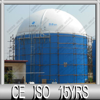 Double Membrane Biogas Digester Cover for Waste Management