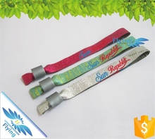 Hot selling~ festival woven wristband with plastic clips for sports