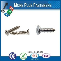 "Taiwan Tapping Screw #10-12 x 3/4"" Square Drive Pan Head Grade 18-8 Type A Point Stainless Steel Sheet Metal Screw"