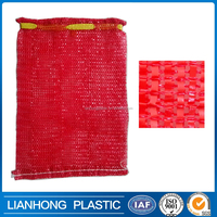 50X80cm Drawstring PP tubular firewood mesh bag, plastic mesh bag for firewood,factory price heavy duty china wholesale mesh bag