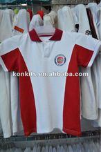 pique cotton children polo neck tee shirts