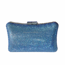 Direct Factory sold exclusively 2015 hot designer women purse blue crystal clutch purses