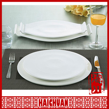 Modern designed fine bone china and porcelain plate and dish for restaurant and hotel with all size