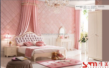 romance simple european style children bedroom sets on the promotion bed dresser wardrobe