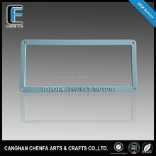 OEM/ODM US standard decorative ABS plastic motorcycle and car license number plate frames