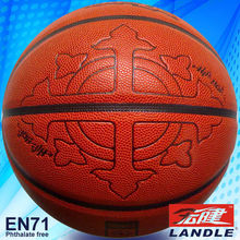 2013 new leathery basketball rubber bladder 8 panels pu synthetic basketball
