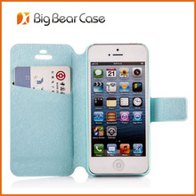 Factory wallet flip leather customized case for iphone 5