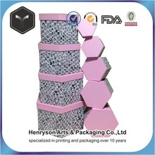 pink printing hexagon storage box manufacturer