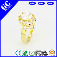 Cheap sale high quality fashion ring the mood of the crystal ring engagement ring