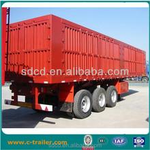 cheap box cargo trailer, van semi trailer truck